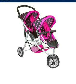 baby doll deluxe double jogger stroller new