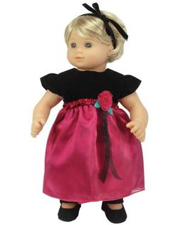 Sophia's 15 Inch Baby Doll Dress & Headband Set, Baby Doll C