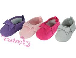 """Baby Doll Fringe Suede Moccasins Shoes fit 15"""" Dolls and Bit"""