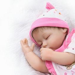 "Realistic 16""Eyes Close Newborn Vinyl Silicone Reborn Baby G"