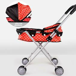 Baby Doll Stroller Buggy Jogger Dolls Pram Toy Kids Carriage