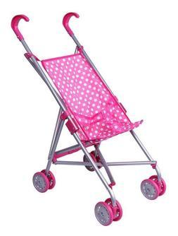 Baby Doll Stroller Set For Little Girl Toddler Toy Pink Fold
