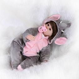 Baby Dolls 43cm Reborn Lifelike Girl Silicone Body Elephant