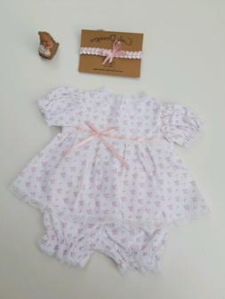 Baby girl clothes,dress Newborn handmade,vintage style, rebo