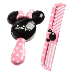 Baby Minnie Hair Brush and Wide Tooth Comb Set