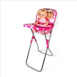 Baby Nursery Room Furniture Decor ABS Doll Pink High Chair K