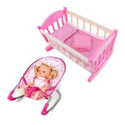 Baby Nursery Room Furniture Decor Doll Bouncer Cradle Bed Ki