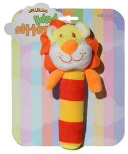 Calplush Baby Rattles - Lion Plush Animal Toy, Stick Rattle