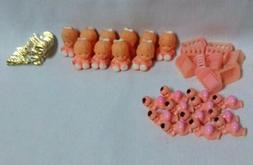"""Baby Shower Dolls Baby figurines 1"""" Favors Pink Figurines lo"""
