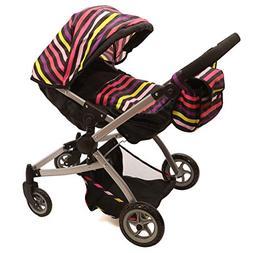 Babyboo Deluxe Little Marcel Look Twin StrollerPram with fre