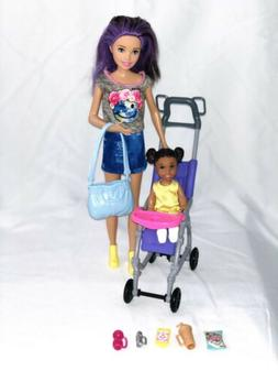 Barbie Babysitters Play set and Skipper Doll and baby