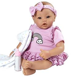 "Adora BabyTime Lavender 16"" Girl 3 Piece Weighted Play Doll"