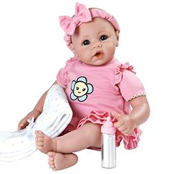 "Adora BabyTime Pink 16"" Weighted Girl Play Doll Gift Set Ens"