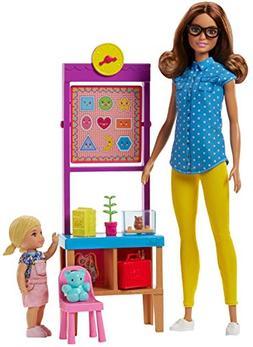 Barbie Career Teacher School Playset Blue Shirt Brunette Hai