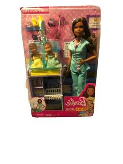 Barbie Careers Baby Doctor Doll Playset, Brunette New Damage