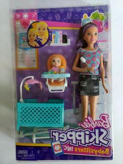 Barbie Skipper Babysitters Inc Baby Feeding Playset w/ Baby