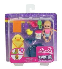 BARBIE SKIPPER BABYSITTERS INC BABY GIRL DOLL with FEEDING &