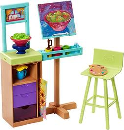 Barbie Art Studio Playset Doll House Furniture Accessories f
