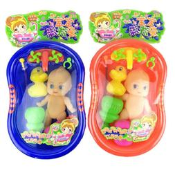 Baby Doll in Bath Tub With Shower Accessories Set Kids Prete
