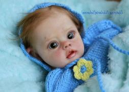 Beautiful Baby reborn blue FLO mini elf by Natali Blick~Glas