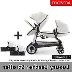 Beautiful luxury twin stroller multi-function