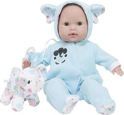 """JC Toys 15"""" Berenguer Boutique Blue Soft Body Baby Doll Open"""