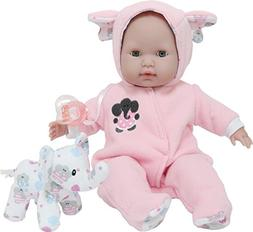 """JC Toys 15"""" Berenguer Boutique Pink Soft Body Baby Doll Open"""