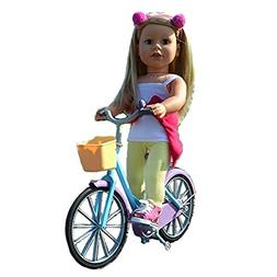 Doll Bicycle - Bicycle with Streamers and Basket for 18 inch
