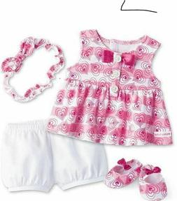 American Girl Bitty Baby Hearts and Stripes Outfit NEW ~ no