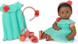 AMERICAN GIRL BITTY BABY PLEATS & PETALS OUTFIT 4 DOLLS DRES