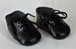 """Bitty Baby Twin Boy Doll Shoes Black for 15"""" To 18"""" doll Acc"""