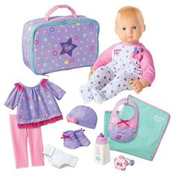 American Girl Bitty Baby 15 inch Doll Deluxe 12 Piece Set, L