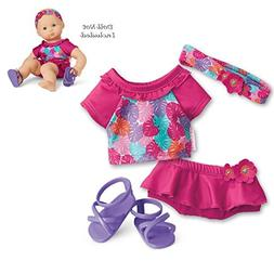 "American Girl Bitty Baby Paradise Palms Swimsuit for 15"" Dol"