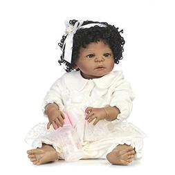 MaiDe 22 inch Black Cute Newborn Baby Doll Girl  Reborn Doll