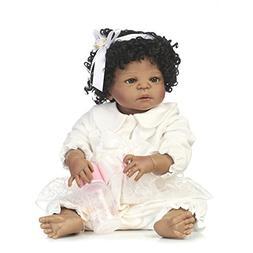 MaiDe 22 inch Black Cute Newborn Baby Doll Girl  Reborn Doll