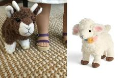 """American Girl Blaire's Lamb Pet and baby goat for 18"""" dolls"""
