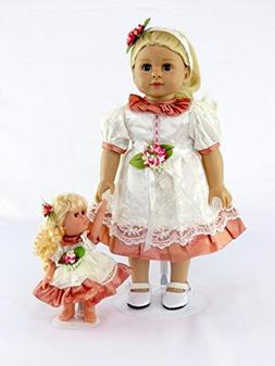 """American Fashion World Blonde 18"""" Doll with her Mini me 
