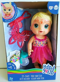 Blonde Baby Alive Doll Drinks & Pees ~ Face Paint Princess F