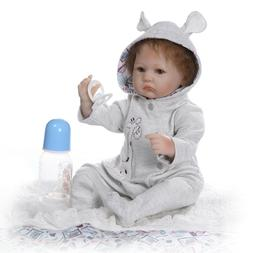 Boys Play Reborn Baby Dolls 16inch Soft Silicone Vinyl Dolls