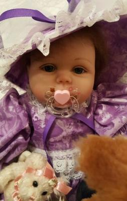 💕Brown Rooted Hair~ Pretty Blue Eyes 22 in REBORN BABY DO