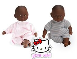 "Corolle Mini 8"" Calin Dolls: Set of 2 African American Boy a"