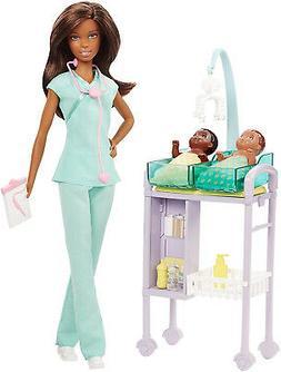 Barbie Careers Baby Doctor Doll Playset, Brunette Kid Toy Gi
