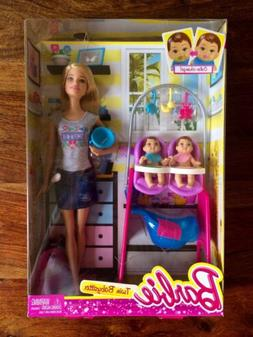 careers twin babysitter doll playset