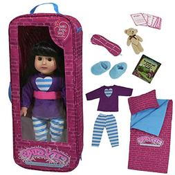 """The New York Doll Collection G115 18"""" Doll Travel Case, Incl"""
