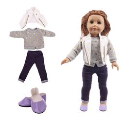 LUCKDOLL Casual Three-Piece Suit Fit 18Inch American 43cm <f