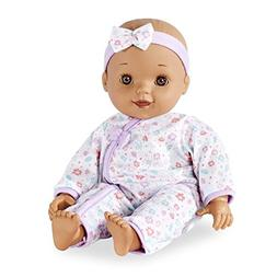 You&Me 14-inch Chatter & Coo Baby Doll - Brunette with Brown