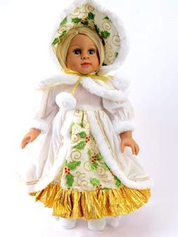 "Christmas Caroler Holly Dress | Fits 18"" American Girl Dolls"