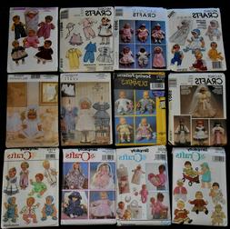 """Clothes & Accessories for Baby Dolls Size 12"""" to 22"""" Sewing"""
