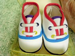 cp-1408 DOLL SHOES  'New born' sneaker type shoes NB; new