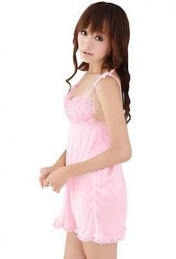 Crossdresser Sissy  Sexy Lace Trim  Chemise+ G-String Size X